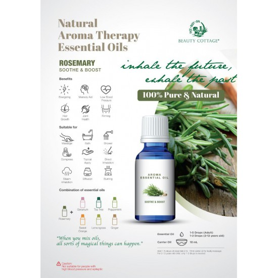 Natural Aroma Therapy Essential Oil [Smoothe & Boost]