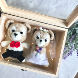 Crochet Wedding Duffy Bear