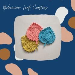Crochet Bohemian Leaf Coasters