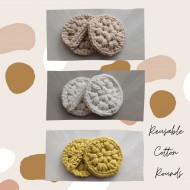 Crochet reusable cotton rounds