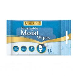 Flushable Moist Wipes 3 x 10's