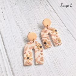 Polymer Clay Earrings - THE CONEFLOWER