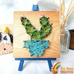 Mini Cactus String Art Kit for Art Craft