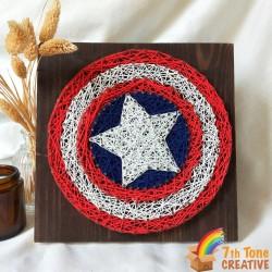 Captain America String Art Kit for Art Craft
