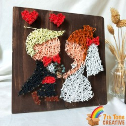 Happy Married String Art Kit for Art Craft