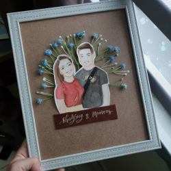 Hand Painted Portrait with Frame
