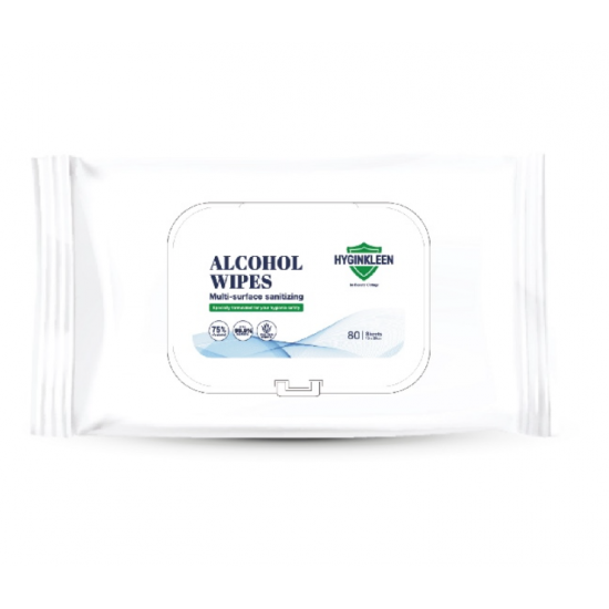 HYGINKLEEN Multi Surface Sanitizeing Alcohol Wipes 80 sheets